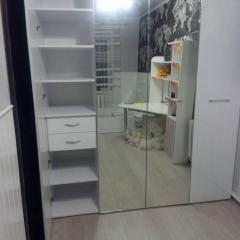 шкаф распашной Зеркало + ДСП